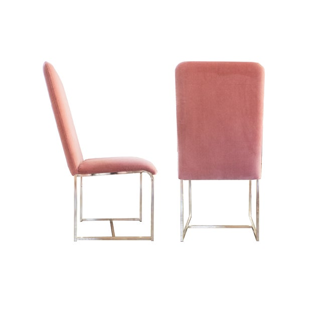 Image of D.I.A. Brass Chairs by Milo Baughman - A Pair