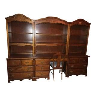 Stanley Furniture Bookcases & Desk - Set of 4