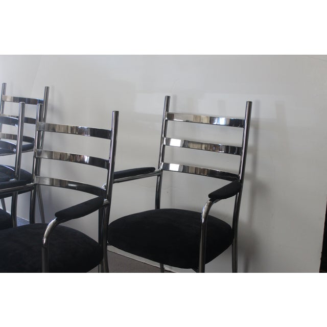 Chrome Dining Chair Set - Set of 4 - Image 3 of 5