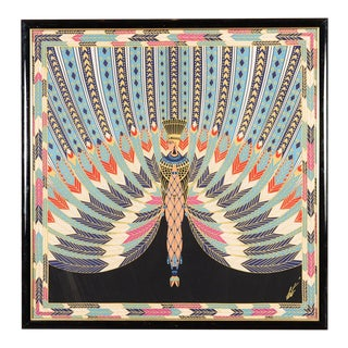 Erte The Nile Vintage Egyptian Revival Serigraph