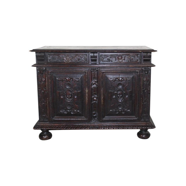 Antique 19th C. French Walnut Buffet - Image 1 of 5
