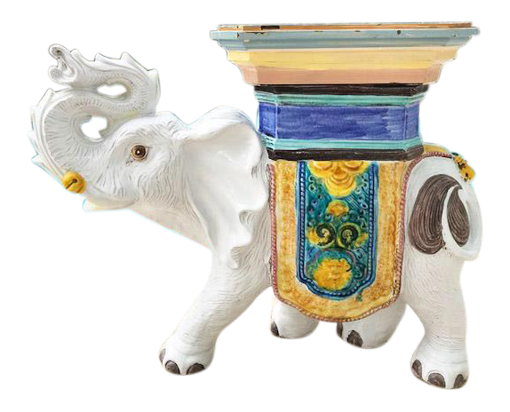 Vintage Mid Century Italian Elephant Garden Stool