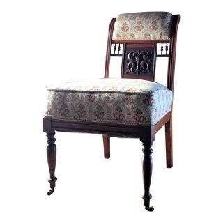 Edwardian Era Side Chair, Upholstered Seating, Antique Furniture