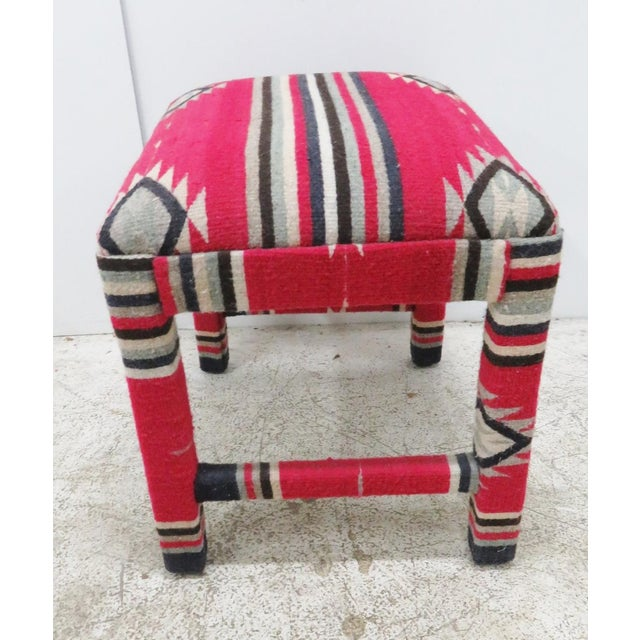 Mid-Century Aztec Parsons Style Stool - Image 3 of 4