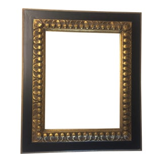 Vintage Black & Gold Carved Frame