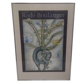 """""""Elephant"""" Graciela Rodo Boulanger 1979 Print"""
