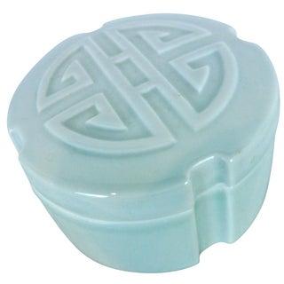 Celadon Shou Symbol Trinket Box