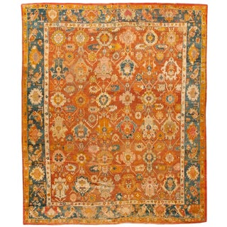 Exceptional Mid-19th Century Turkish Oushak Carpet