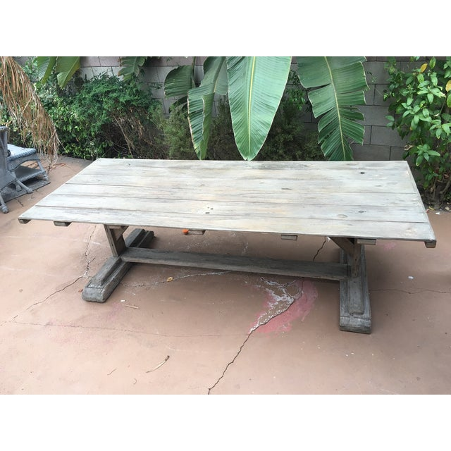 Antique Rustic Farm Table - Image 3 of 7