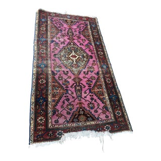 Antique Pink Handmade Rug - 3' X 4'3""