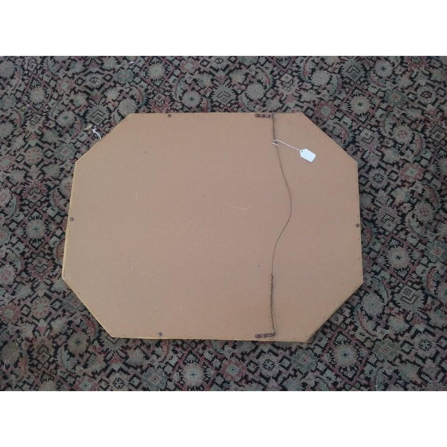 Hollywood Regency Octagonal Faux Bamboo Mirror - Image 4 of 4