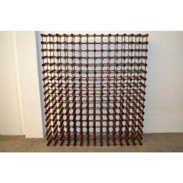Monumental Modernist Wood Wine Rack - Image 2 of 5