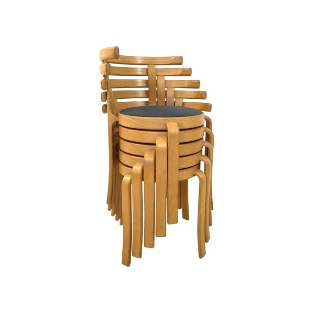 Danish Magnus Olesen Stacking Chairs - Set of 5 - Image 1 of 8
