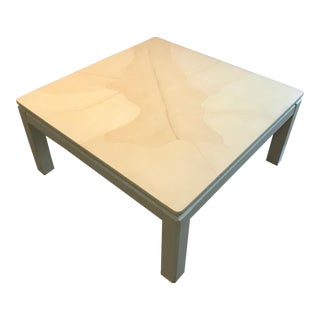 Faux Goatskin Coffee Table