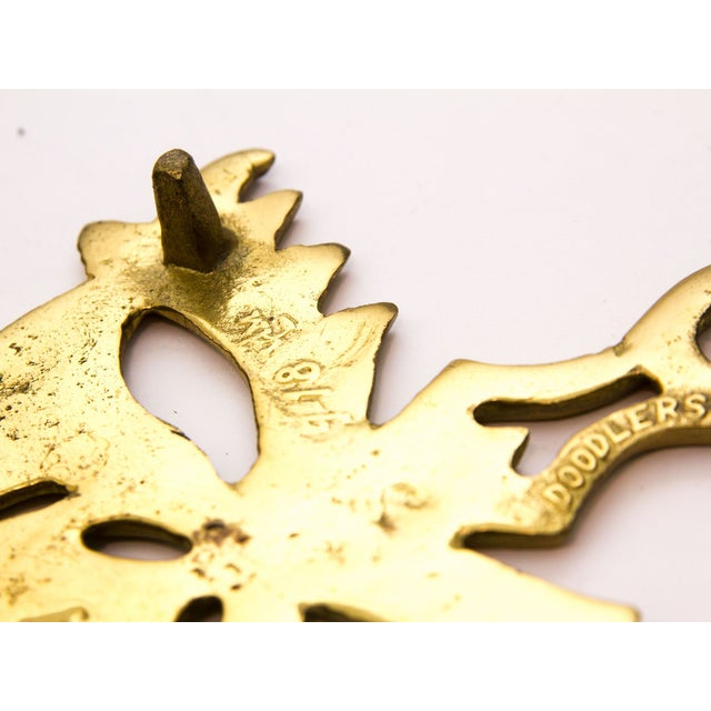 Vintage Brass Mask Trivet - Image 4 of 5