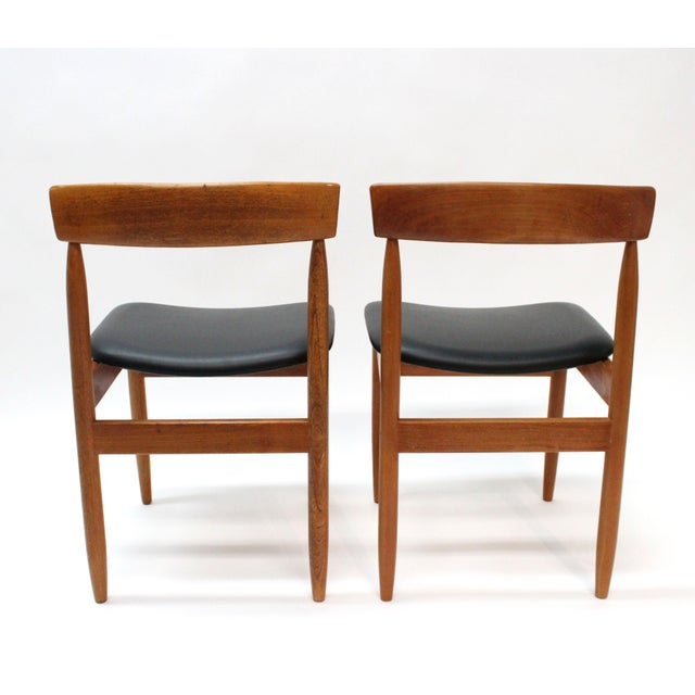 1977 Mid-Century Danish Style Teak Chairs - A Pair - Image 5 of 6