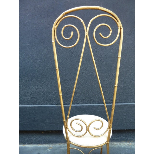 Mid-Century Whimsical Gilded High Back Chair - Image 2 of 4