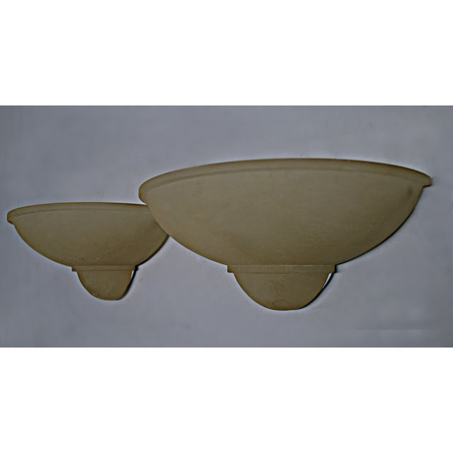 Image of Art Deco Style Alabaster Sconces - A Pair