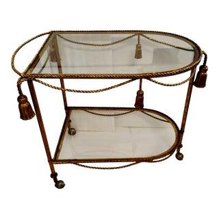 Vintage Gold Gilded Bar Cart