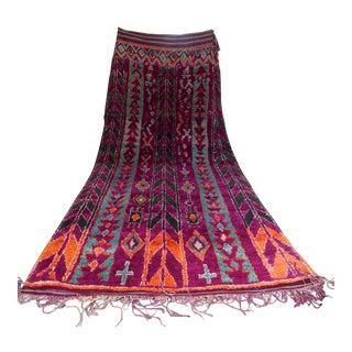 Vintage Moroccan Purple & Teal Talsint Rug - 5′12″ × 11′2″