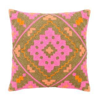 Pink & Orange Boho Chic Intensity Pillow