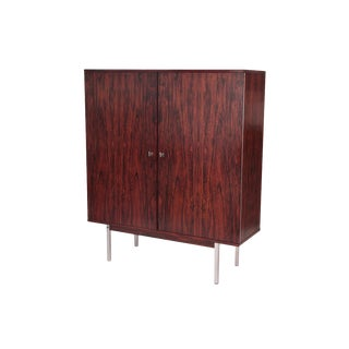 Danish Rosewood & Steel Highboy