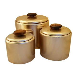 "Mid-Century ""Rose-Gold"" Canisters"