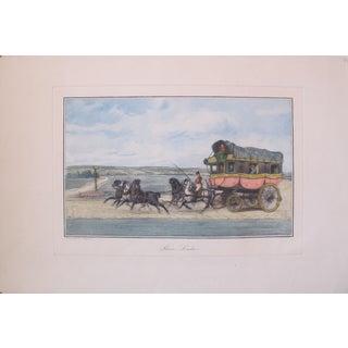 Vintage French Equestrian Print - Paris to London