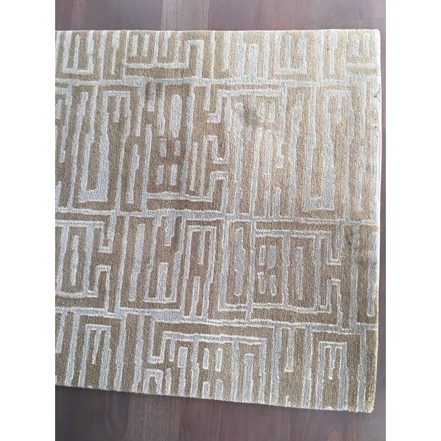 Contemporary Wool & Silk Runner - 3′ × 13′2″ - Image 5 of 5