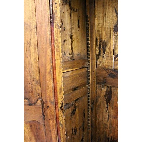 18thC Large French Country Wooden Armoire - Image 10 of 10