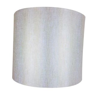 White & Gold Metallic Lamp Shade