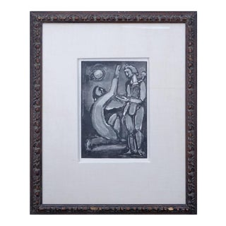 """Georges Rouault """"Adoration"""" Woodcut on Paper"""