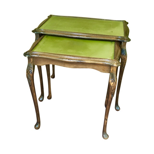 French Walnut Nesting Tables - A Pair - Image 1 of 11
