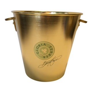 Gloria Ferrer Gold Anodized Aluminum Champagne Bucket