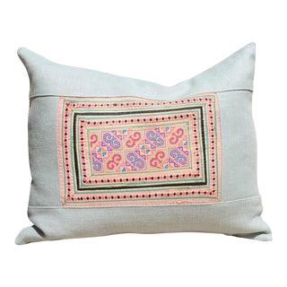 Vintage Cross Stitch Hmong Textile Pillow