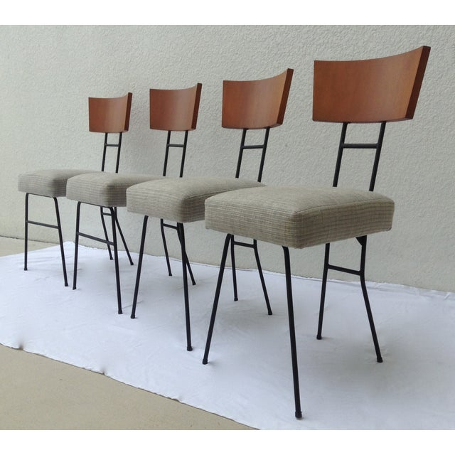 Paul McCobb Wood & Metal Chairs - Set of 4 - Image 2 of 11