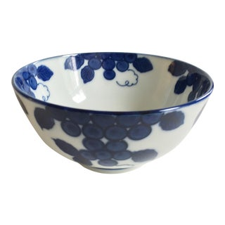 Grape Leaves Antique Chinese Bowl