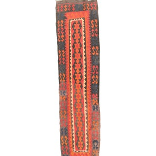 Orange & Red Kilim Runner - 2′7″ × 9′8″