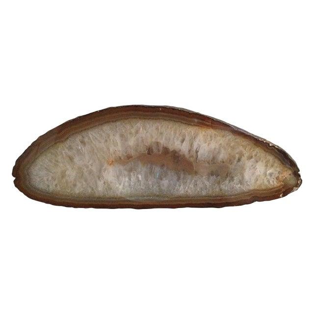 Image of Vintage Sliced Geode Polished Rock Dish