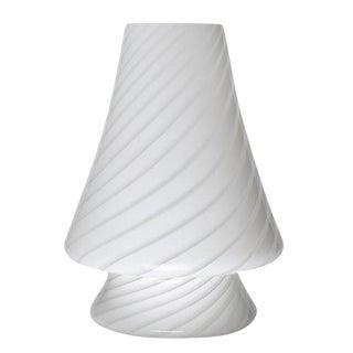 1980S VETRI MURANO SWIRL GLASS TABLE LAMP