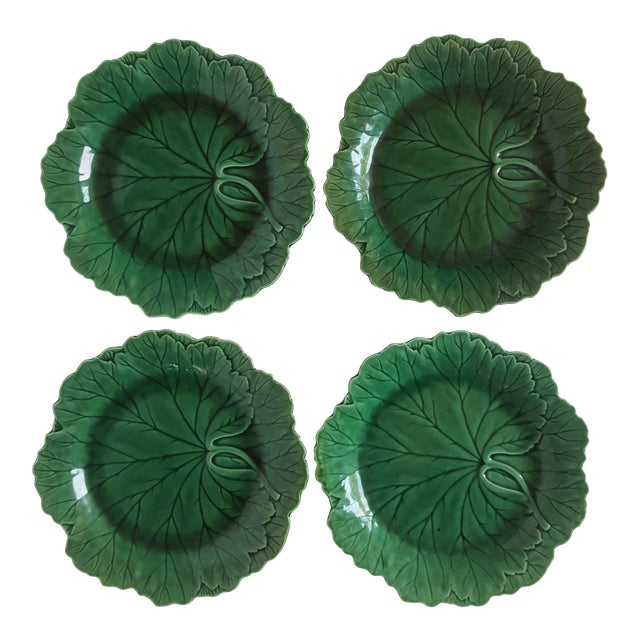 Wedgwood Cabbage Plates - Set of 4 - Image 1 of 4