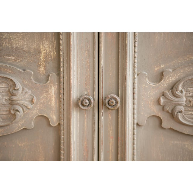 1920s Distressed Painted Armoire - Image 5 of 7
