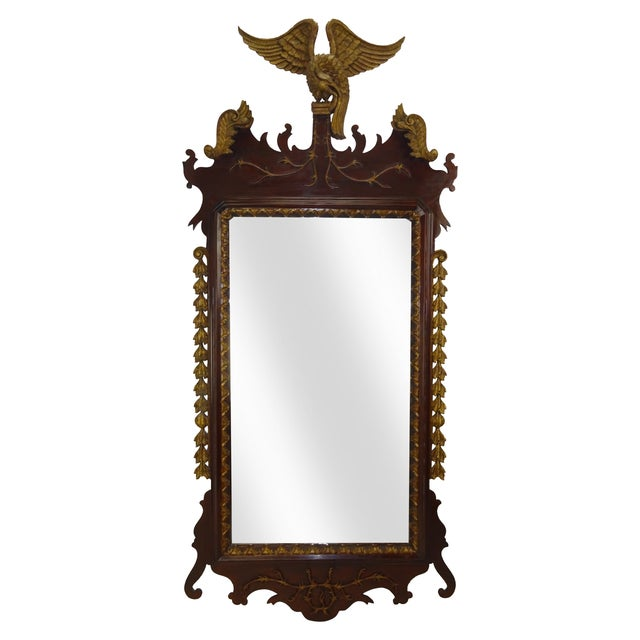 Federal Carved Wood Eagle Gilt Mirror - Image 1 of 9