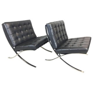 L. Mies Vander Rohe Barcelona Chairs - Pair