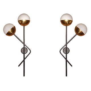 Murano Glass Stilnovo Sconces - A Pair