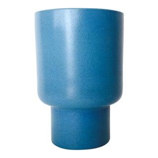Vintage Malcolm Leland Blue Glazed Vessel