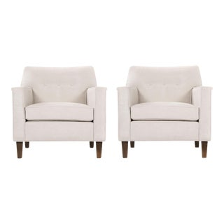 Pair of Edward Wormley Paddle Arm Lounge Chairs