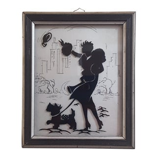 "1933 ""Windy"" Painted Glass Picture"