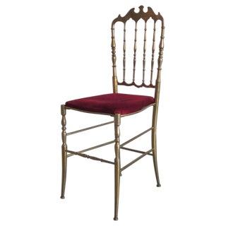 One Solid Brass Italian Vanity/Desk Chair