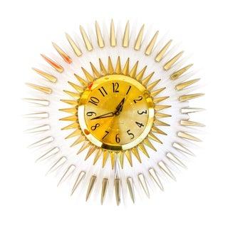 Mid-Century Modern Lucite Starburst Clock